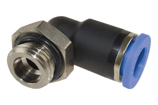 L-Steckverschraubung kurz mit zylindrischem Außengewinde, Pneumatik IQS, Standard
