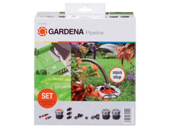 start set f r garten pipeline gardena 8255 20 sprinklersystem gardena bew sserung. Black Bedroom Furniture Sets. Home Design Ideas