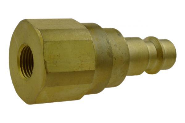 Druckluftstecknippel NW 7,2 mit Innengewinde und Rückschlagventil, Messing