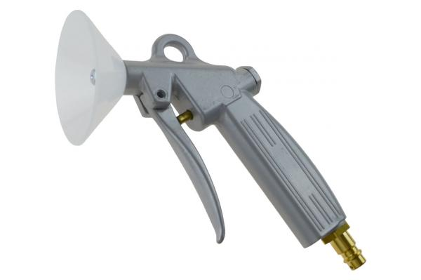 Ausblaspistole mit Kurzdüse und Schutzschild, Aluminium