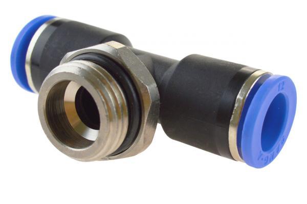 TE-Steckverschraubung mit zylindrischem Außengewinde, Pneumatik IQS, Standard