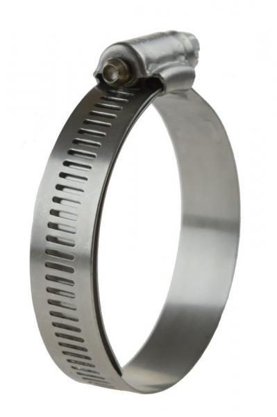 Perforierte Schlauchschelle W4 - mit Schutzband, 16 mm Bandbreite