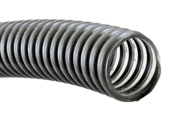 PVC Saug- und Förderschlauch mit Spirale UV-R-Grau