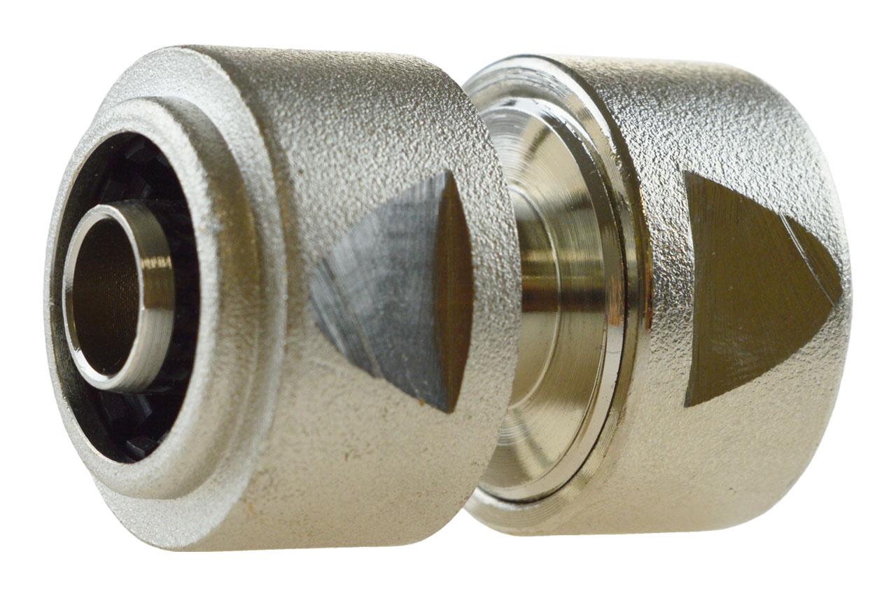 GEKA® plus Schlauchverbinder Reparator Messing vernickelt