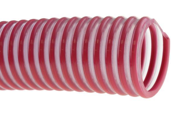Weinschlauch mit Spirale - Getränkeschlauch - rot-transparent
