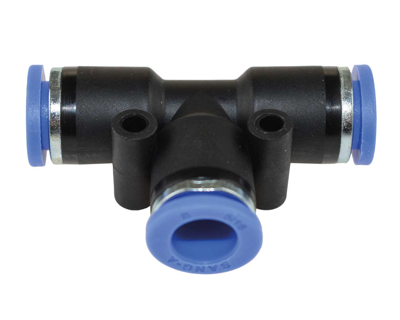 2stk Steckverbinder Steckanschluss T-Form Pneumatik Druckluft Luftverteiler 4mm