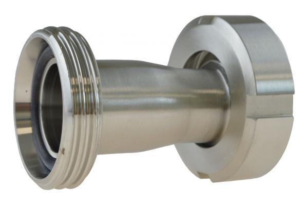 Reduzierung Gewindestutzen auf Kegelstutzen mit Nutmutter, Edelstahl, DIN 11851